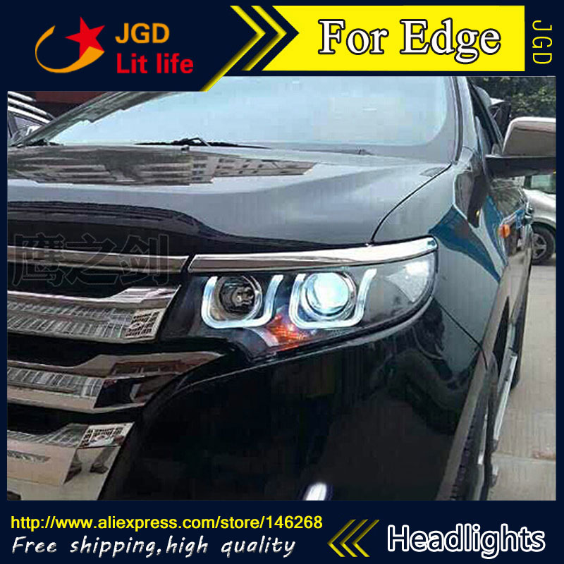 Free shipping ! Car styling LED HID Rio LED headlights Head Lamp case for Edge 2012-2015 Bi-Xenon Lens low beam free shipping car styling led hid rio led headlights head lamp case for skoda octavia 2015 bi xenon lens low beam