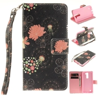 Fashion Painted Pattern PU Leather Cell Phone Cover For LG K8 Lte K350 K350E K350N Flip