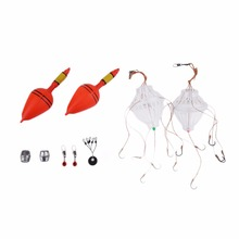 LEO Telescopic Fishing Rod Reel Combo Full Kit Spinning Fishing Reel Pole Set + Fishing Line Lures Hooks + Carrier Bag Fish Tool