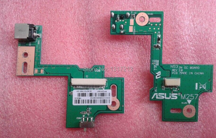 NEW 10 PCS FOR ASUS N53 N53S N53J N53TA N53TK N53SM N53DA N53SL N53SN N53JG N53SV N53JN N53JF N53JQ DC POWER JACK SWITCH BOARD