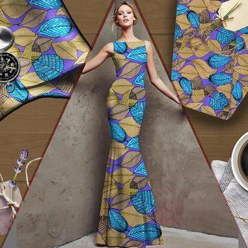Tela de cera Real Africana Hitarget, tela de algodón con estampado de cera Hollantex para ropa de retales, costura hecha a mano H180808