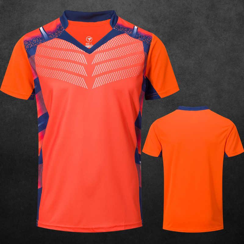 Новые теннисные рубашки для мужчин/женщин, футболки для бадминтона, футболки для настольного тенниса, Майки для настольного тенниса, спортивные футболки для бега A112