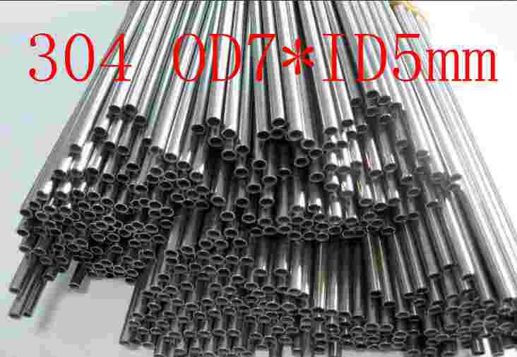 OD7XID5mm,304 321 316 thick wall or thin wall small tube corrosion resistance to acid and alkali Capillary stainless steel pipe 5pcs 304 stainless steel capillary tube 3mm od 2mm id 250mm length silver for hardware accessories
