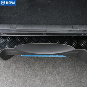 Image 3 - MOPAI Stahl Tür Schwellen verschleiss Platte Auto Innen Hinten Inneren Schutz Platte für Suzuki Jimny Auto Zubehör