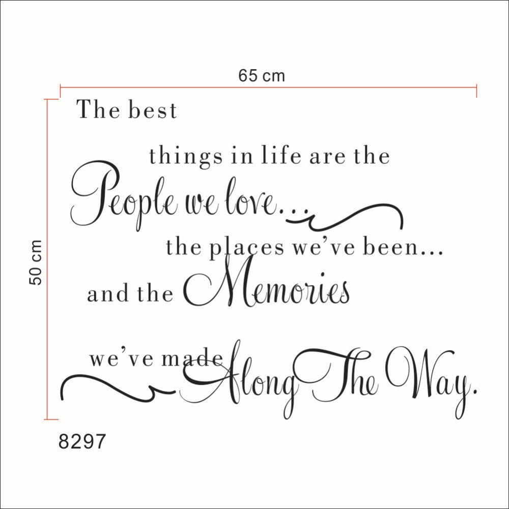 The Best Things In Life Wall Decals Love Memories Wall Sticker