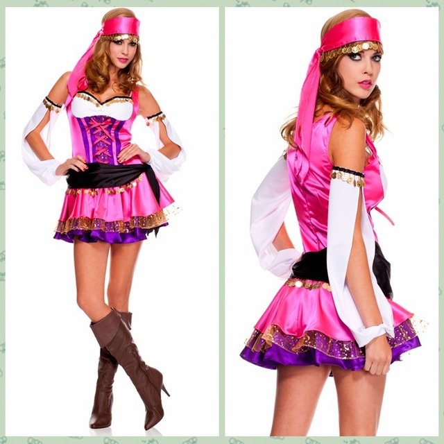 Awesome Fancy Indian Dance Dress Nice Color Halloween Costumes Gypsy Costumes Suit  Wholesale