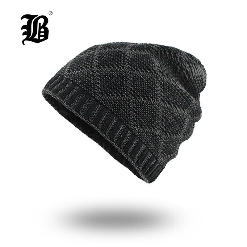[FLB] Balaclava Knitted hat warmer Winter Hats For Men women caps   skullies     beanies   warm Fleece cap   Beanies   Hats Male F18036