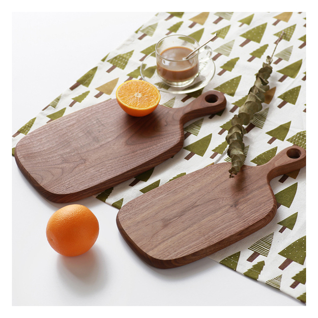 1pc RSCHEF Black Walnut Chopping Blocks Kitchen Wood Food Plate Wooden Pizza Sushi Bread Whole Wood Tray Cutting Board No Paint 3