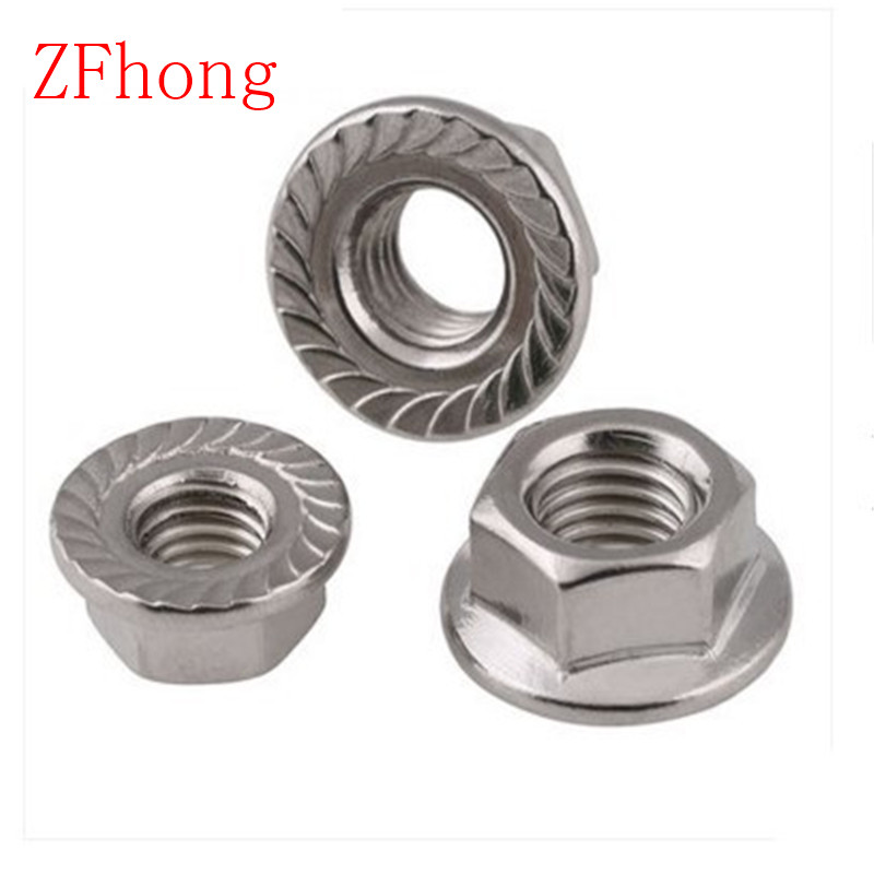 DIN6923 M3 m4 m5 m6 m8 m10 m12 Stainless Steel 304 hex flange Nut цена 2017
