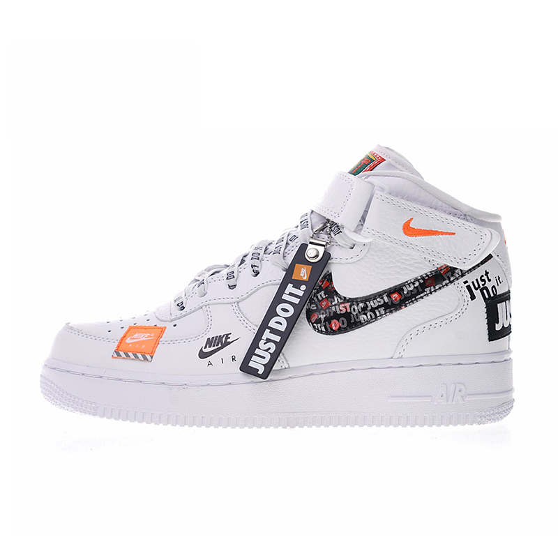 pretty cheap factory price sale usa online US $84.66 49% OFF|Original Authentic Nike Air Force 1 Mid Men Skateboarding  Shoes Just do it Sneakers Outdoor Sports 2018 New Arrival AQ8650-in ...