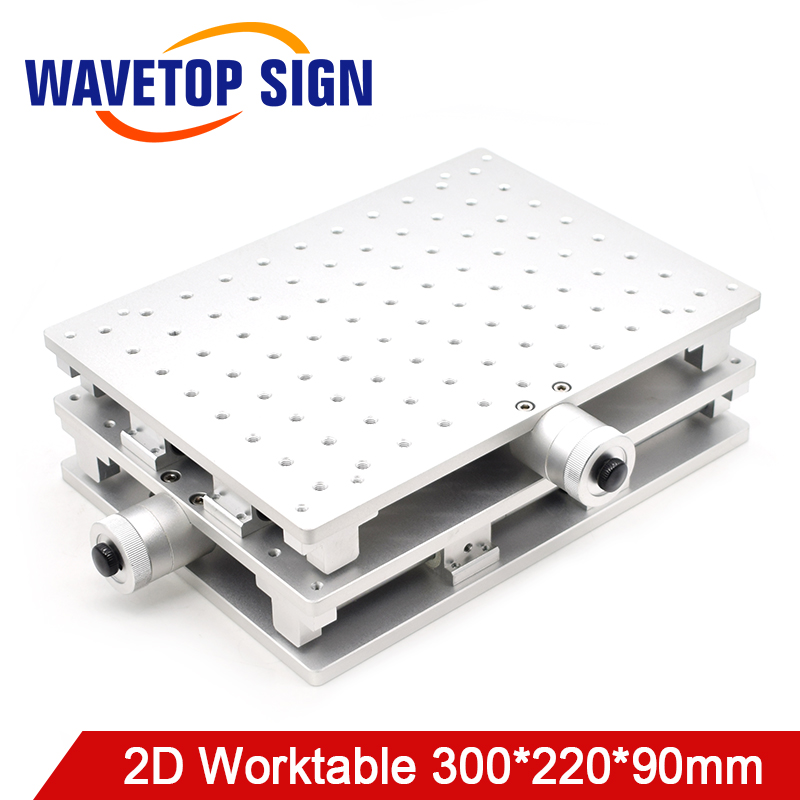WaveTopSign 2D Worktable Fiber Laser Mark Machine 2 Axis Moving Table 300 220 90mm XY Table