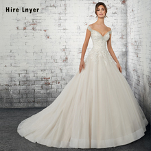 HIRE LNYER Short Sleeve Ball Gown Wedding Dress