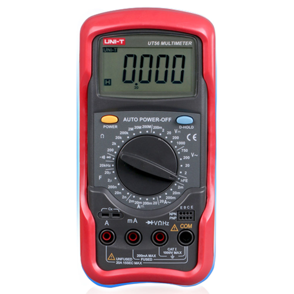 UNI-T UT56 Digital Multimeter AC DC Voltage Current Resistance Capacitance Frequency Meter Tester Voltmeter Ammeter victor vc9807a 4 1 2 ac dc resistance digital multimeters ammeter voltmeter ohmmeter conductivity capacitance frequency tester