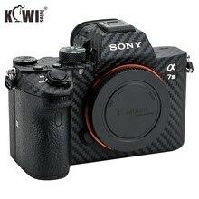 KIWIFOTOS المضادة للخدش كاميرا الجسم شريط الياف الكربون كيت لسوني A7 III A7R III A7III A7RIII A7M3 A7RM3 كاميرات الجلد 3M ملصقا