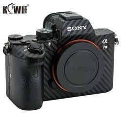 Kit KIWIFOTOS Anti-Scratch Filme De Fibra De Carbono Do Corpo Da Câmera Para Sony A7 III A7R III A7III A7RIII A7M3 A7RM3 Câmeras Pele 3 Adesivo 3M