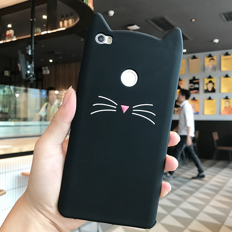 Cover For Xiaomi Redmi 4X Case 5 0 inch Soft Rubber Coque Phone Case Redmi 4X Fashion 3D Cute Cartoon Unicorn Cat Redmi4x Fundas in Fitted Cases from Cellphones Telecommunications