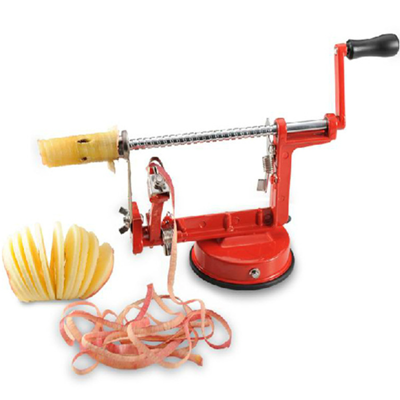 Upgrade 3 in 1 spiral apple peeler corer Potato Slinky peeling Machine cutter slicer fruit vegetable