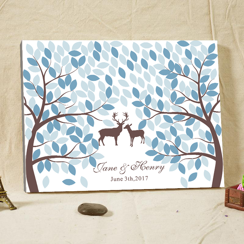 Guest Book Printing: Best Wedding Accessories Wood Frame Customized Printing