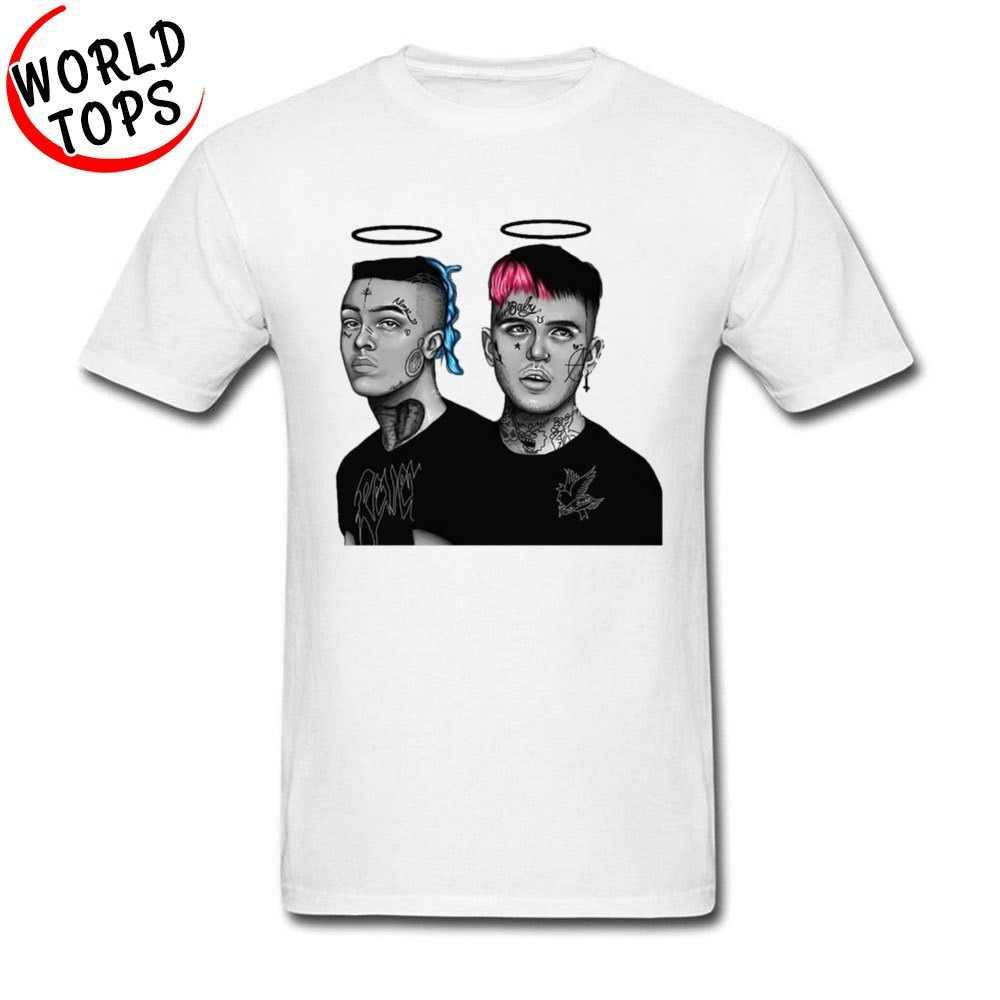 c7208dc3d XXXTentacion n Lil Peep 666 Hybrid T Shirts Hip Hop Rock Singer Popular T- Shirts