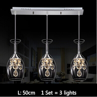 1 Set Modern home dining room decoration 15W led crystal pendant lights living room lamp crystal lamp free shipping to Russian