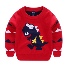 Cardigan Children Cartoon O-Neck Tops Boys Sweaters Knitted Pullover Cotton Christmas