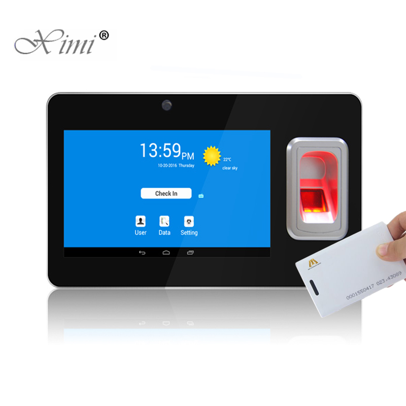 UT268 Android Fingerprint And 125KHZ RFID Card Time Attendance With GPS And SMS Biometric Fingerprint Time Recorder Terminal k14 zk biometric fingerprint time attendance system with tcp ip rfid card fingerprint time recorder time clock free shipping