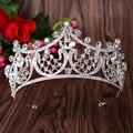 Luxo Alta qualidade Senhorita beleza show de Cristal Tiaras e Coroas de Casamento nupcial hairwear Tiara de strass acessórios para o cabelo