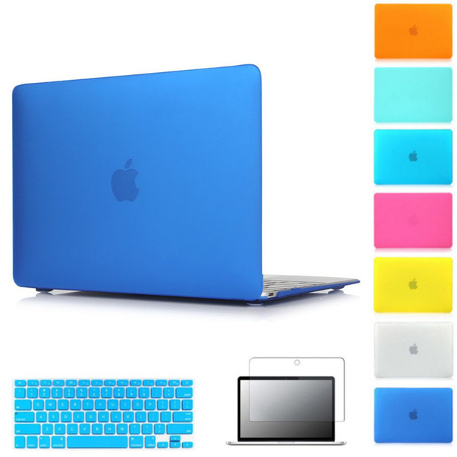 Hard Matte Case For Apple macbook Air Pro Retina 11 12 13 15 laptop bag For Mac book 11.6 13.3 15.4 inch laptop case cover greenell гори 4 green