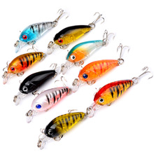 Swim Fish  Lure Fishhooks Hard Crank topwater Wobbler Japan Mini Fishing