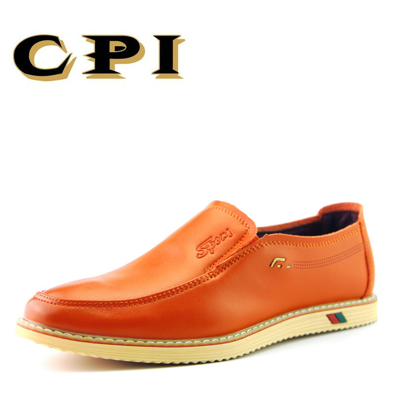 CPI New Men S Casual Leather Shoes Comfortable Breathable Fashion Slip On Soft Non Slip Loafers