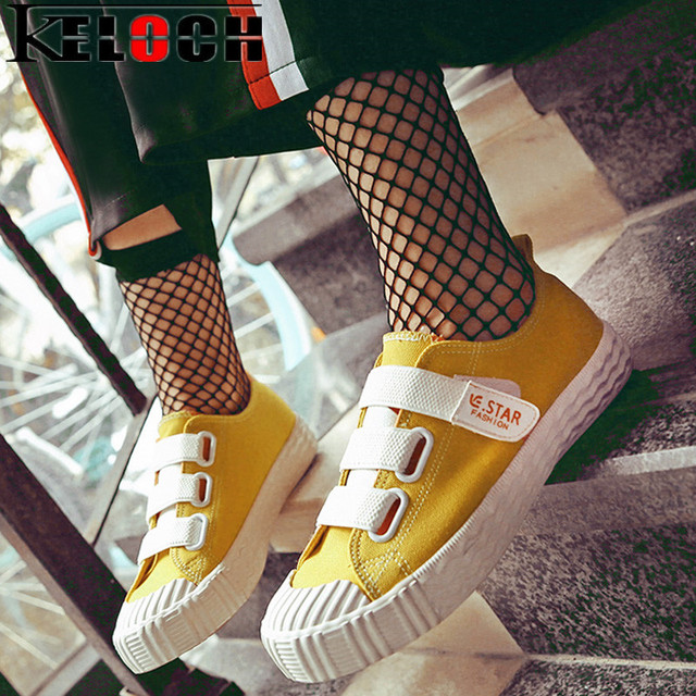 Keloch Free Shipping 2017 Summer Canvas Shoes Fashion Leisure Women Flat Heel Shoes Female Casual Shoes Chaussure Femme 35-40