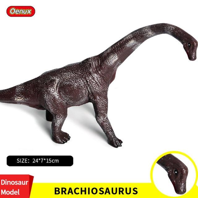 Oenux Original Novo Selvagem Preto T-REX Dinossauro Tamanho Grande Dinossauros Do Jurássico Brachiosaurus Figuras de Ação Modelo Brinquedos Educativos