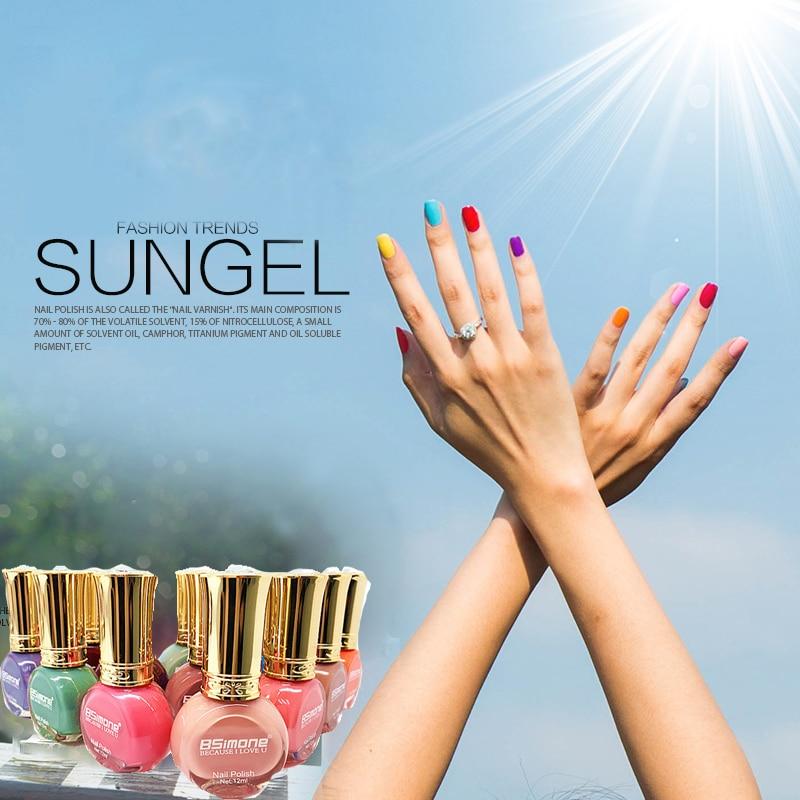 Monasi Glitter Light Pink Uv Gel Nail Polish Fluorescent Shiny Cover Fast Dry