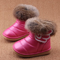 Girl Snow Boots 2016 New Winter Rabbit Hair Warm Kids Ankle Boots White Pink Red Children Shoes Kids Shoes Girls Boots Eur21-30