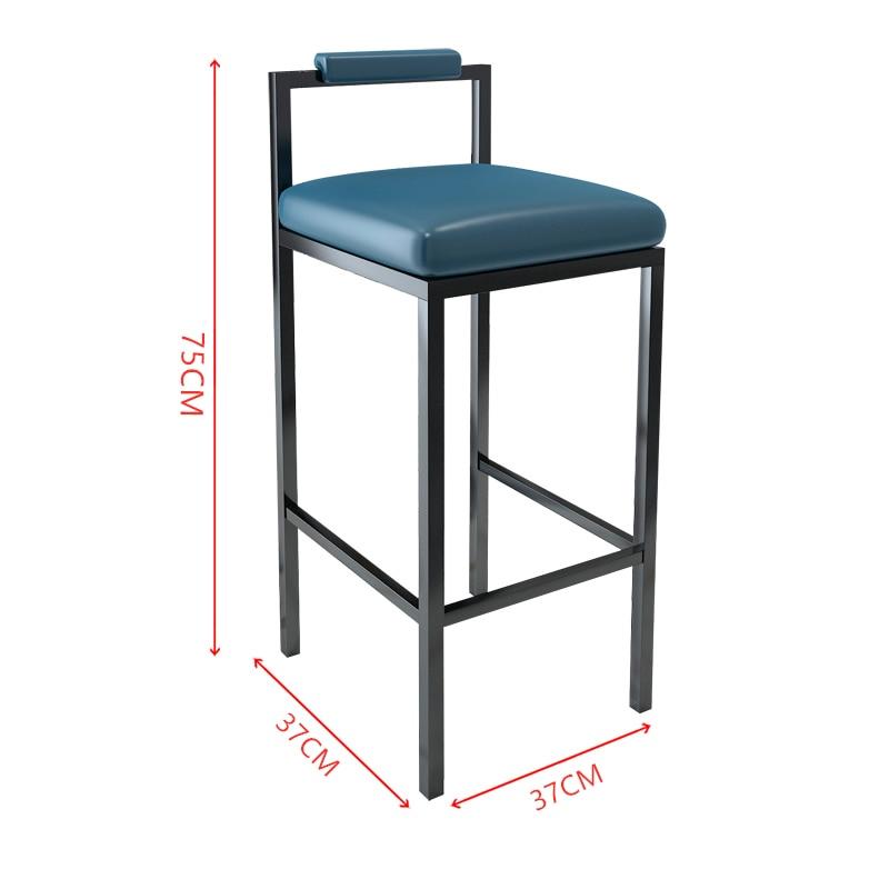 1B Nordic Modern Minimalist Bar Stool Bar High Stools Home Wrought Iron Coffee Shop Solid Wood Strip Table