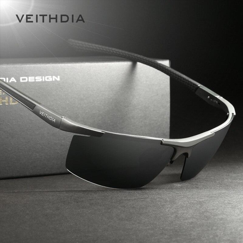 VEITHDIA de magnesio y aluminio gafas de sol polarizadas para recubrimiento espejo gafas de sol hombre gafas accesorios 6588