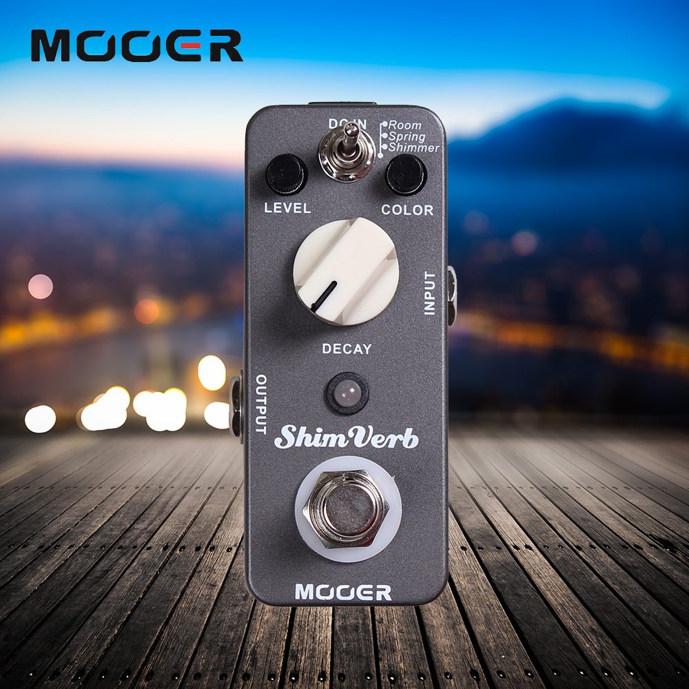 Mooer 3 Reverb Modes ShimVerb Guitar Effect Pedal Full Metal Shell True Bypass mooer wood verb reverb digital effects acoustic guitar effect pedal tiny size true bypass mrv3