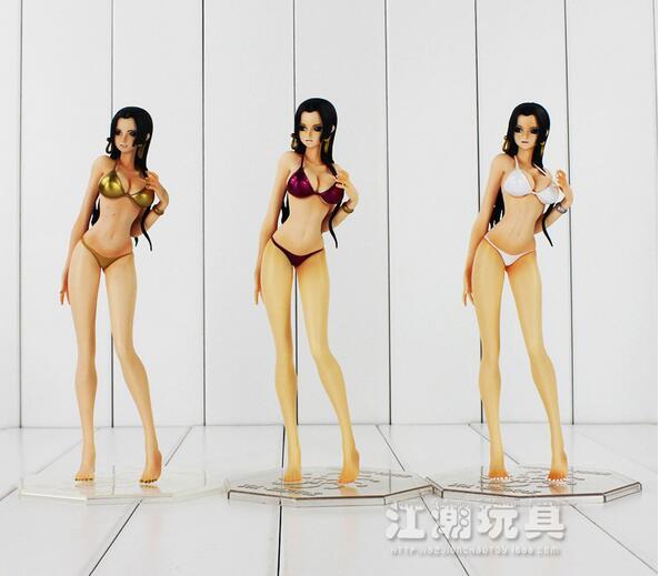3 стиля 2016 новинка аниме ПВХ Ограниченная серия поп Цельный купальник боа движущаяся фигурка хэнкока Сексуальная модель игрушки коллекцион