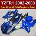 Aftermarket тела запчасти для YAMAHA YZFR1 2002 2003 синий белый обтекатели yzf r1 YZF1000 02 03 зализ тела