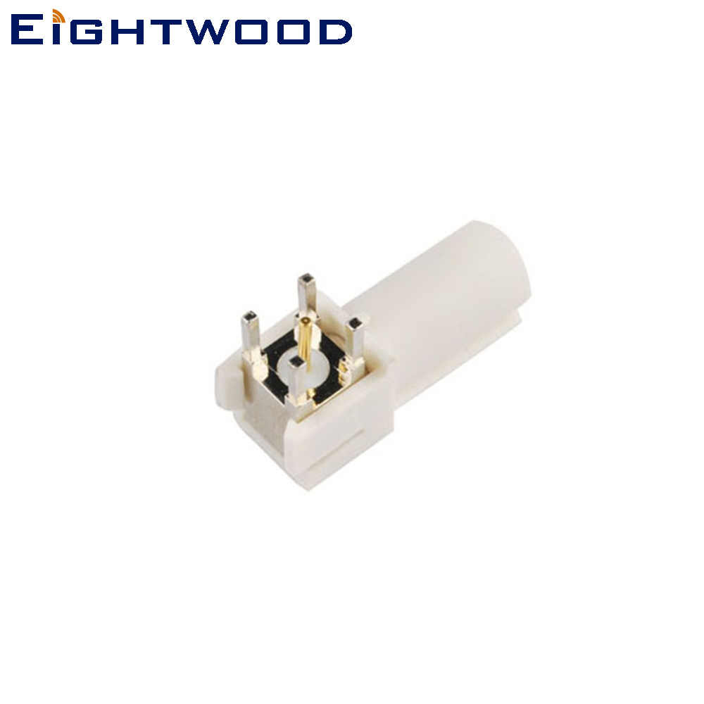 Eightwood Fakra SMB Code B Male Connector PCB Mount Right