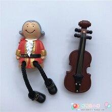 Австрия Венская Моцарт скрипка смоляный магнит на холодильник