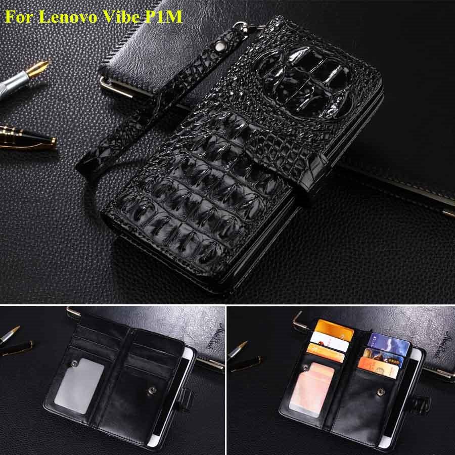 Цена за Новый Для Lenovo Vibe P1M Чехол Роскошный Крокодил Patterm Флип Кожаный Телефон Случаях Для Lenovo Vibe P1m Бумажник Чехол