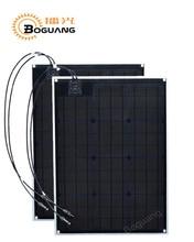 2pcs 50w ETFE solar panel PCB module Monocrystalline cell 100watt MC4 connector for 12v battery light RV yacht car power charge