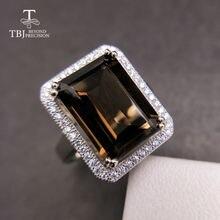 Женское кольцо с дымчатым камнем tbj подарочное Ювелирное Украшение