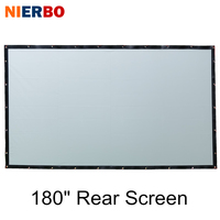 NIERBO 180 Inches Projector Screen Portable Wall Mounted for School Show Shop Beamer Commercial Back Rear Projection Screen Film