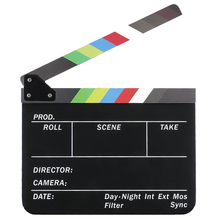SCLS Dry Erase Directors Film Movie Clapboard Cut Action Scene Clapper Board Slate with Colorful Sticks