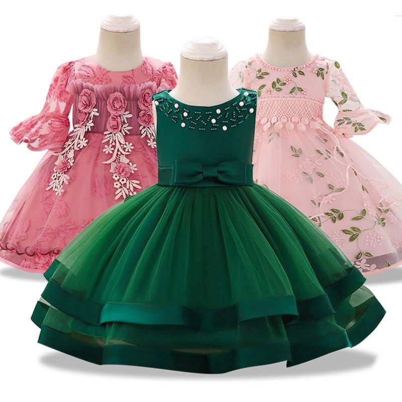 5aa19b7ef4d Cheap Nuevo Bebé Sweetl recién nacido encaje vestido de boda bebé niña arco  patrón para niño