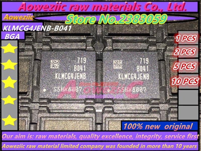 Aoweziic 100% nuevo original KLMCG4JENB-B041 BGA Chip de memoria KLMCG4JENB B041 64G
