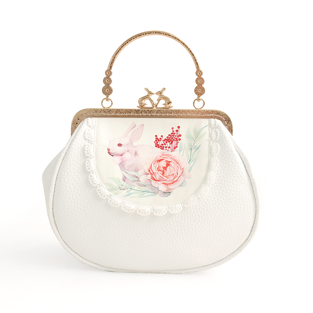 Princess sweet lolita bag Original small satchel soft girl package lovely satchel Bunny bag chain mouth gold bag women CC130 цена