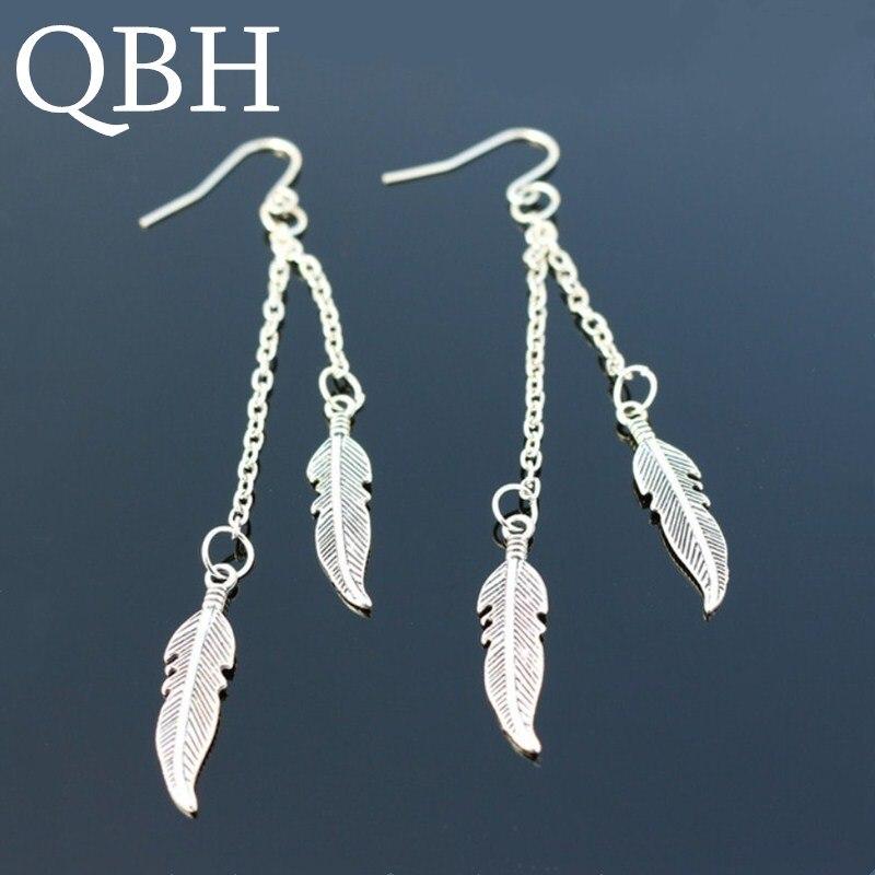 EK2020 Many Styles Long Tassel Feather Dangle Earing Brincos Femininos Leaf Drop Earrings For Women Fashion Bohemian Jewelry